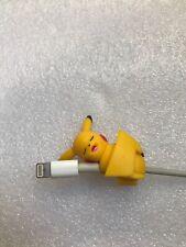 Pikachu Pokemon Figure Suyasuya On The Cable Cable Protector Very Rare JAPAN
