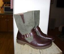 BOGS Bobby Mid Waterproof Pull On Leather Boots Size 7 - Brown & Green