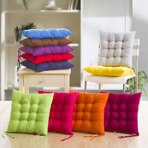 38x38cm Seat Pad Dining Room Garden Kitchen Chair Seat Cushions Tie On