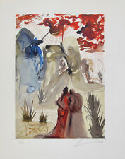 Salvador Dali 1960 DIVINE COMEDY PURGATORY #28 HAND SIGNED Woodcut Wood Block