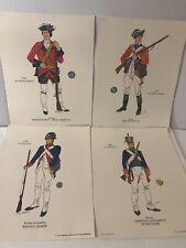 4 1969 Art Prints Military Uniforms Fort Mackinac Artist Dirk Gringhuis 14x11