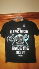 "Gap Kids ""The Dark Side Made Me Do It"" Angry Birds Star Wars Shirt- Med  (G 12)"