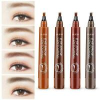 4 Heads Eyebrow Pencil Tattoo Fork Tip Sketch Waterproof Eye Brow Pen Makeup