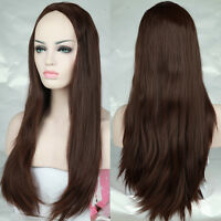 Fashion Women's Girls Long Wavy Curly Hair Full Wig Wigs Anime Cosplay Costume 7