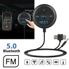 AUX Bluetooth Wireless Receiver Transmitter Adapter FM Auto Car Stereo Audio MP3