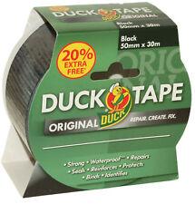 Duck Tape 1 roll Black 50mm x 30m Duct Gaffer Tape Black Duck