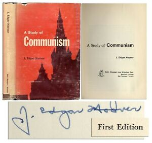 "J. Edgar Hoover Signed Book ""Study"" First Edition FBI"