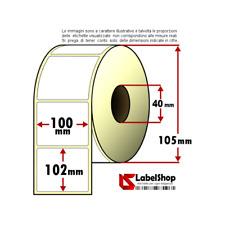 Rotolo da 500 etichette adesive mm 100x102 Termiche 1 pista anima 40 100x100