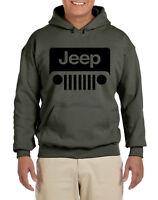 Jeep Military Green Sweat Shirt Hoodie w/Logo---Brand New---