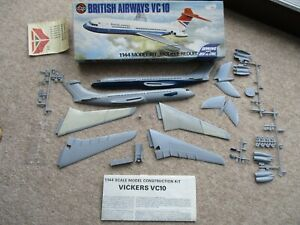 Airfix Vickers VC.10 1/144 scale, complete, part painted