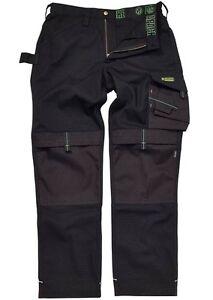 Apache Ballistic Black Canvas Cordura Workwear Trousers Various Sizes