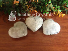 Rainbow Moonstone Puffy Hearts Pocket Hearts Natural Gemstone Crystal Hearts