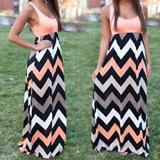 Vintage Women's Boho Maxi Dress Holiday Summer Party Beach Long Skirt Sundress