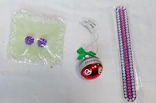"""Christmas Custom Name Ornament Michelle1 1/2"""" Rhinestone Emery Board 7"""" Ear 26M"""
