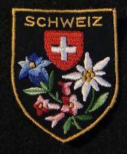 SCHWEIZ Souvenir Travel Patch SWISS Suisse SWITZERLAND Ecusson Ski Skiing Hiking