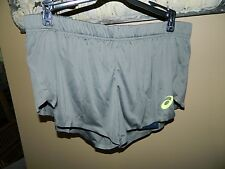 Women's Asics Knit Running Shorts 123988 Gray Sz L NWT!