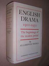 ENGLISH DRAMA 1900-1930. ALLARDYCE NICOLL. 1975. HARDBACK in DUST JACKET. COMPLE
