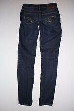"Silver SUKI Jeans Size 26.x 31"" Dark Blue Wash Stretch Skinny Jegging Fitted"