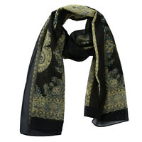 New Fashion Soft Scarf Shawl Flower Print Headband Stripe Scarves Head Wraps HO