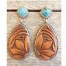 Vintage Women Turquoise Alloy Ear Stud Dangle Bohemian Earrings Wedding Jewelry