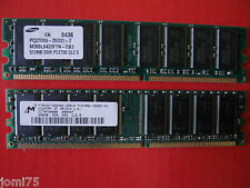 DDR 333 KIT PC2700 U 512MB + 256 MB CL2.5 184 PIN IBM RAM memory Vintage