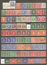 King George VI A selection of 76 stamps.  As scanned..