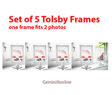"IKEA 5 Photo Frames TOLSBY a Frame Fits 2 Pictures White 4x6"" Parties Birthday"