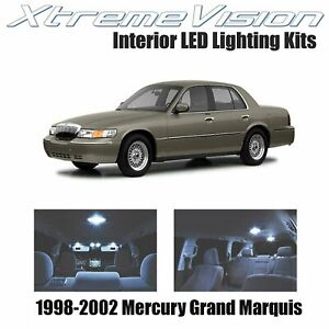XtremeVision Interior LED for Mercury Grand Marquis 1998-2002 (8 PCS) Cool White