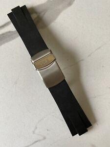 Oris Aquis Date Black Rubber Watch Diver Strap + Stainless Steel Deployant Clasp