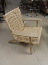 CH-25 Hand Wegner Style Paddle Chair Midcentury Modern MCM Lounge Repro