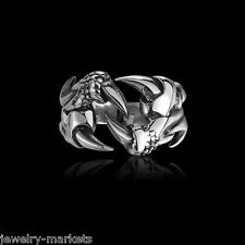 1Pc Fashion Women Men Jewelry Vintage Punk Gothic Stainless Steel Silver Ring