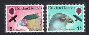 Falkland Is. Birds of Prey Caracara Buzzard 2v 1980 MH SG#385-386