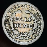 1859 Seated Liberty Half Dime 5C High Grade Good Date 90% Silver US Coin CC7000