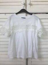 New Look Lace White  Top t/Shirt Size UK12