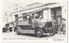 Fire; Leyland Fire Escape, Brighton HCV Rally 1-5-1983 RP PPC By Pamlin M2166