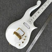 New Metallic White Prince Electric Guitar Gold Hardware 6 Strings Free Shipping