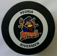 PEORIA RIVERMEN ECHL OFFICIAL GAME PUCK INGLASCO HOCKEY MADE IN CANADA
