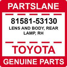 81581-53130 Toyota OEM Genuine LENS AND BODY, REAR LAMP, RH