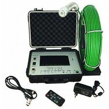 Portable Sewer/Drain 1' Waterproof Video Color Camera Monitor 7' w/SD Recording
