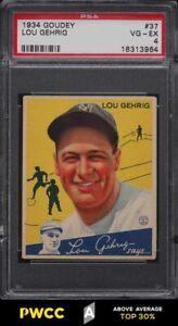 1934 Goudey Lou Gehrig #37 PSA 4 VGEX (PWCC-A)