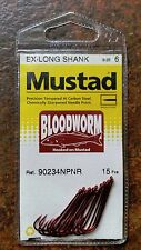 Mustad Bloodworm Ex-Long Shank 15 Piece Choose Size