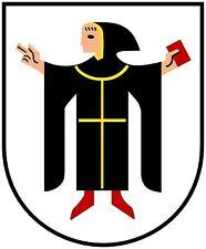 8x6,5cm PREMIUM Aufkleber München Münchner Kindl Auto car Sticker Autoaufkleber