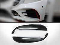 Front Bumper Canards Flaps Vent For 2019-Up Mercedes Benz W205 C43 AMG - Black