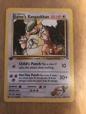 Pokemon TCG Gym Heroes FIRST EDITION Blaine's Kangaskhan 36/132 Mint