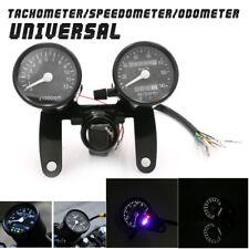 Motorcycle LED Backlight Odometer & Tachometer Speedometer Gauge Universal