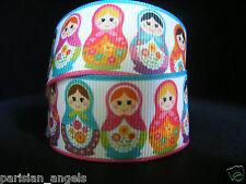 "1"" (25mm) Grosgrain Ribbon - by the Meter - #4131 Babuska Dolls"