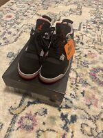 Nike Air Jordan 4 OG Bred Retro size 9.5 (2019) BLACK/FIRE RED-CEMENT GREY