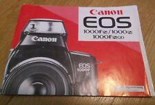 canon EOS 1000fn 1000n Bedienungsanleitung Gebrauchsanleitung Manual Camera