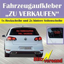 Auto zu verkaufen Aufkleber Schriftzug Gebrauchtwagen mit Telefonnummer