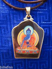 GOLDPLATED HEALING MEDICINE BUDDHA TIBETAN BUDDHIST PENDANT NECKLACE